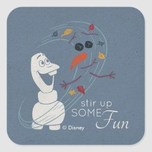 Frozen 2: Olaf And The Wind Square Sticker