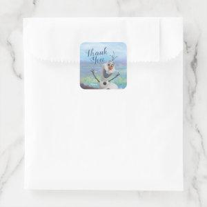 Frozen 2 - Olaf Birthday Thank You Square Sticker