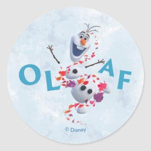 Frozen 2: Olaf In The Breeze Classic Round Sticker