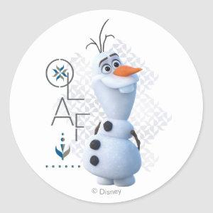 Frozen 2: Olaf With Stylized Name Graphic Classic Round Sticker
