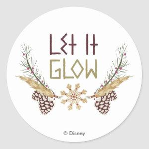 Frozen | Let it Glow Classic Round Sticker