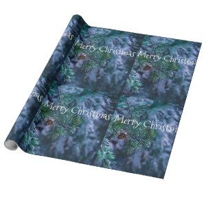 Frozen Pine Christmas Wrapping Paper