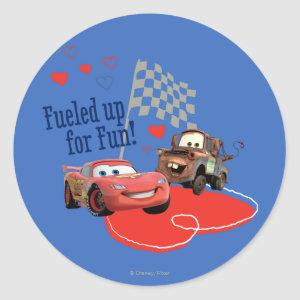 Fueled up for Fun! Classic Round Sticker