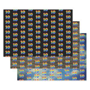 Fun, Colorful, Rainbow Spectrum Pattern 10 Event # Wrapping Paper Sheets