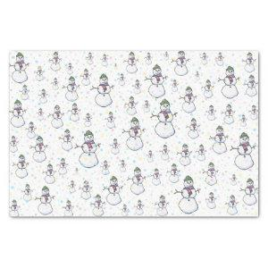 Fun, Cute, and COlorful Snowmen and Snowflakes Tissue Paper
