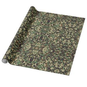 Fun Four Color Camouflage Wrapping Paper