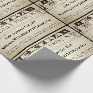 Fun Personalized Newspaper Wrapping Paper