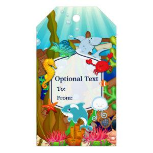 Fun under the sea kids birthday party gift tags