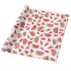 Fun watermelon wrapping paper