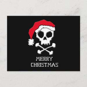 Funny Bones Christmas - Black Background Holiday Postcard
