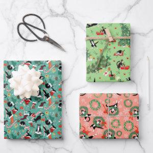 Funny cat holiday trio  sheets