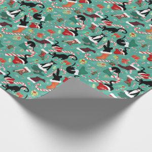 Funny cats and stockings pattern