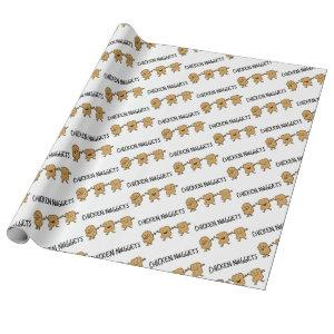 Funny Chicken Nuggets Wrapping Paper
