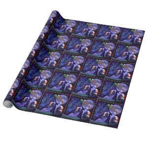 Funny Christmas Wolf Pun Happy Howlidays Humor Wrapping Paper