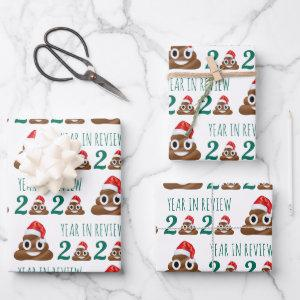 Funny Covid Christmas Poop Year Review Quarantine  Sheets
