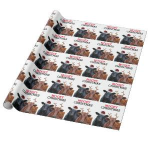 Funny Cows Mooey Christmas Wrapping Paper