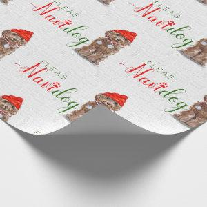 Funny Dog Lover Christmas Brown Cockapoo Wrapping Paper