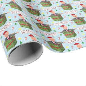 Funny Donald Trump Christmas Yuuge Package Humor Wrapping Paper