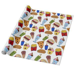 Funny Fast Food Wrapping Paper