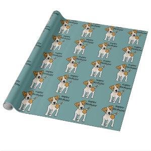 Funny Jack Russell Terrier Puppy Dog Wrapping Paper
