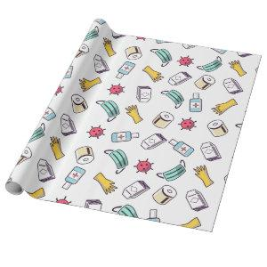 Funny Pattern Birthday Quarantine Wrapping Paper