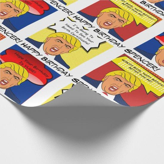Funny Personalized Trump Birthday Wrapping Paper