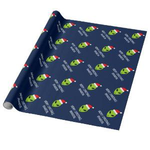 Funny Santa Claus alien Christmas wrapping paper