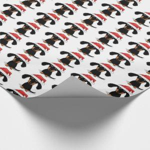 Funny Santa Dachshunds Cute Wiener Dog Christmas Wrapping Paper