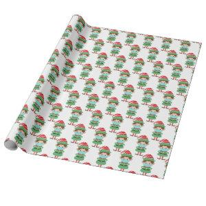 Funny Santa's Elf Wearing Facemask 2020 Christmas Wrapping Paper