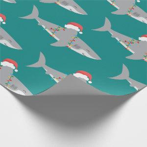 Funny Shark Christmas Wrapping Paper