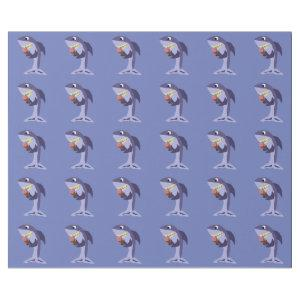 Funny Shark Eating Ice Cream Cone Wrapping Paper