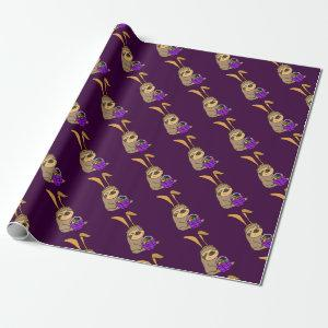 Funny Sloth Wearing Easter Bunny Ears Wrapping Paper