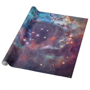 Galaxy Nebula space image. Wrapping Paper