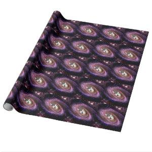 Galaxy Space Cats LOL Funny Wrapping Paper