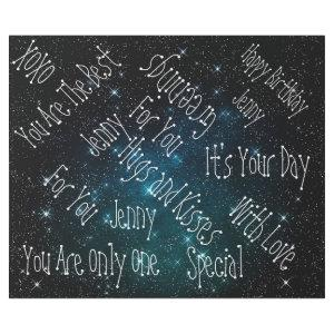 Galaxy Stars Personalized Birthday Space Wrapping Paper