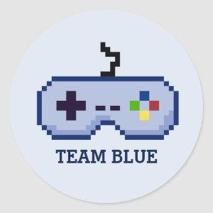 Gamer Gender Reveal Team Blue Stickers