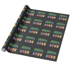 Garbage Truck Kids Trash Recycling Wrapping Paper