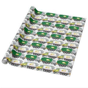 Garbage Truck Wrapping Paper