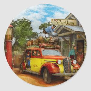 Gas Station - Fresh delivery to Pie Town 1940 Classic Round Sticker