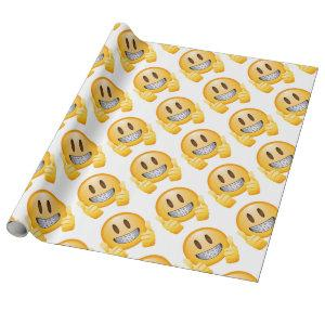 Geeky Braces Emoji Wrapping Paper