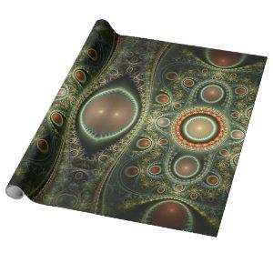 Geometric abstract carpet - fractal impression. wrapping paper