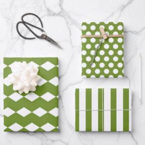 Geometric Shapes Wrapping Paper Set