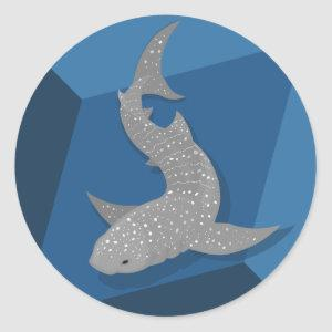 Geometric Whale Shark Vector Art Stickers