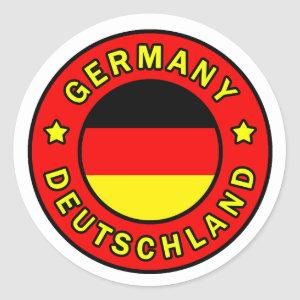 Germany Classic Round Sticker