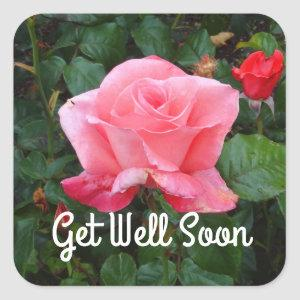 Get Well Soon Touch of Class Rose #1 Stickers