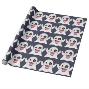 Ghost emoji wrapping paper