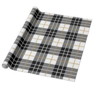 Gift Wrap | Black & Gold Plaid