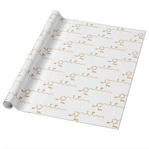 Ginger Gingerol Molecule Chemical Formula Wrapping Paper