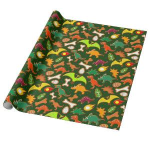 Gingerbread Dinosaurs Wrapping Paper