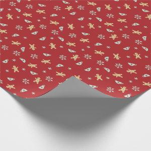 Gingerbread, Tea Cup, Snow Flake Wrapping Paper